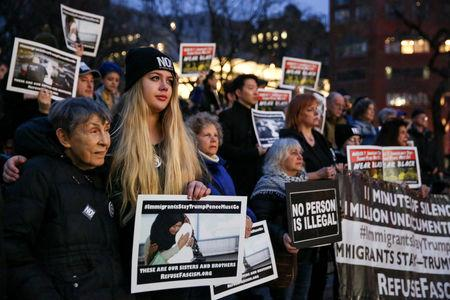 FILE PHOTO: Activists and DACA recipients protest against the Trump administration's policies on immigrants
