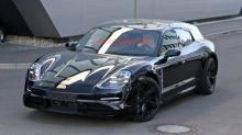 Porsche Taycan Sport Turismo electric wagon spied