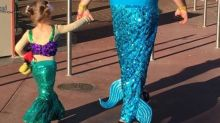 Dad dresses up as mermaid alongside daughter, wins the Internet's heart