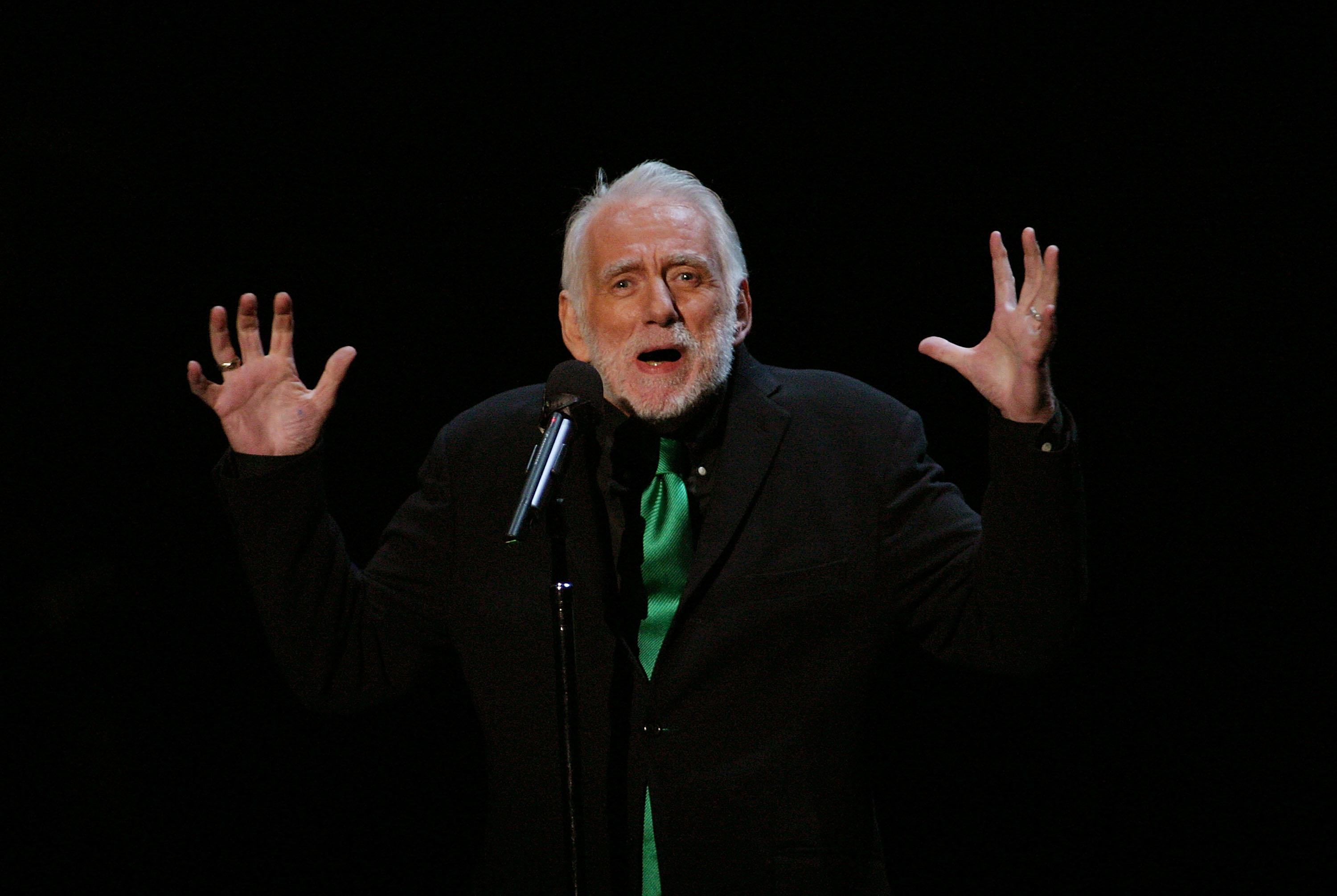 File photo of Rod McKuen performing at The 4th Annual S.T.A.G.E. event in Los Angeles, California, on October 25, 2003
