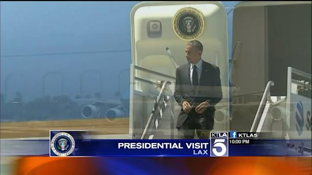 President Obama Arrives in L.A. for 2-Day Visit, Creating Rush-Hour Traffic; Advisory Issued as Closures Go Into Effect
