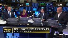 Toll Brothers still showing weakness in new orders, says analyst