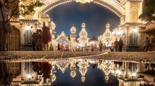 雨中倒影圖 日本網民影迪士尼 VS 環球影城