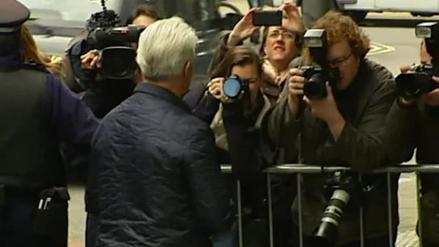 Max Clifford arrives at court for verdict