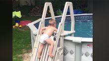 Así un bebé de 2 años logra burlar el sistema que lo protegía