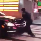 Dramatic Video Shows NYC Cop vs. Mercedes in Times Square