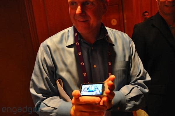 Exclusive: Steve Ballmer demos the Zune HD for Engadget!