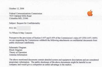 Apple asks FCC for iPhone confidentiality until June 15th