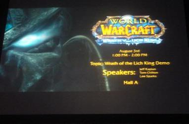Wrath of the Lich King Demo panel: liveblogging from BlizzCon
