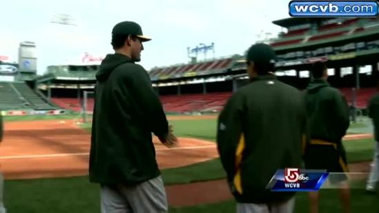 Local grad returns to Fenway with Oakland A's