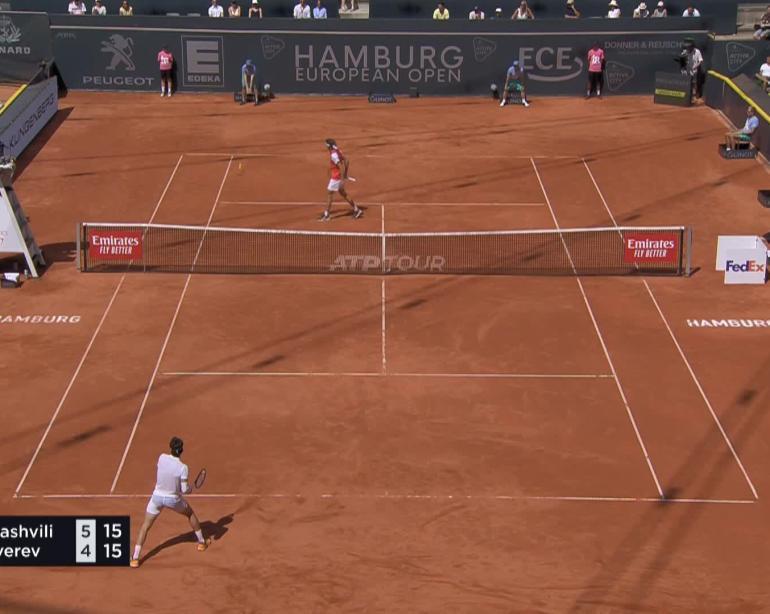 Tennis Atp Hamburg N Basilashvili Bt A Zverev 6 4 4 6 7 6