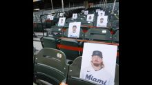 Despite being under quarantine, Marlins players are being represented in the stands