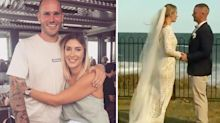 Couple's wedding day nightmare as bushfire surrounds venue