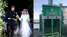 Smokers asked to discard cigarette butts in 'Harry and Meghan: will it last?' dustbin