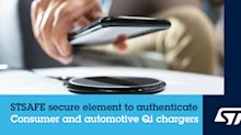 STMicroelectronics Powers Wireless-Charging Growth with Secure Solution for Consumer and Automotive Qi-certified Chargers