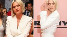 Jesinta Franklin snubs David Jones as she sits front row at Myer show