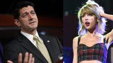 Paul Ryan Cites Taylor Swift to Push Tax Reform