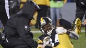 Antonio Brown taken to hospital with calf injury