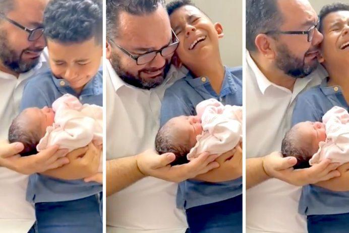 WATCH: 'Glory Be to God!': Video of Father and Son Weeping Joyfully Over Birth of 'Miracle Baby' Goes Viral