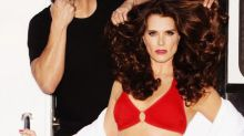 Brooke Shields Looks Red Hot in Bikini Ads at 52