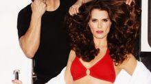 Brooke Shields Looks Red Hot in Bikini Ads at 52