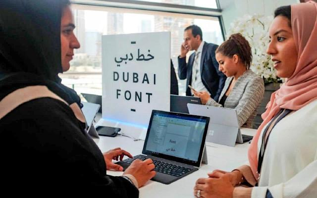 Dubai is the first city to design its own Microsoft font