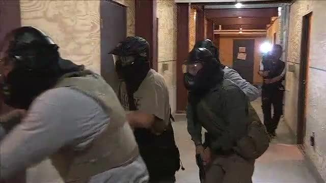 Active-shooter police drill