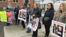 'I'm really sorry for your loss': MCFD minister faces grieving families at rally