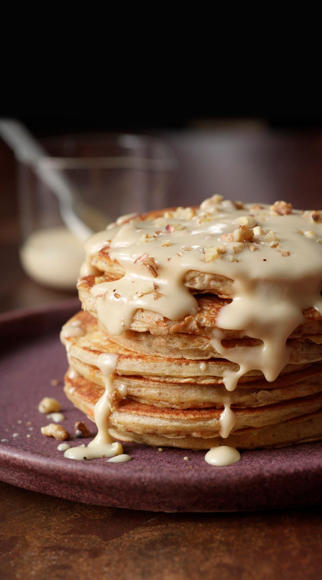Carrot Cake Pancakes with Maple-Cream Cheese Drizzle from 'Brunch ...