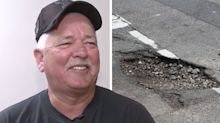 Man avoids hospital stay after 'symptoms disappear' when ambulance hits pothole