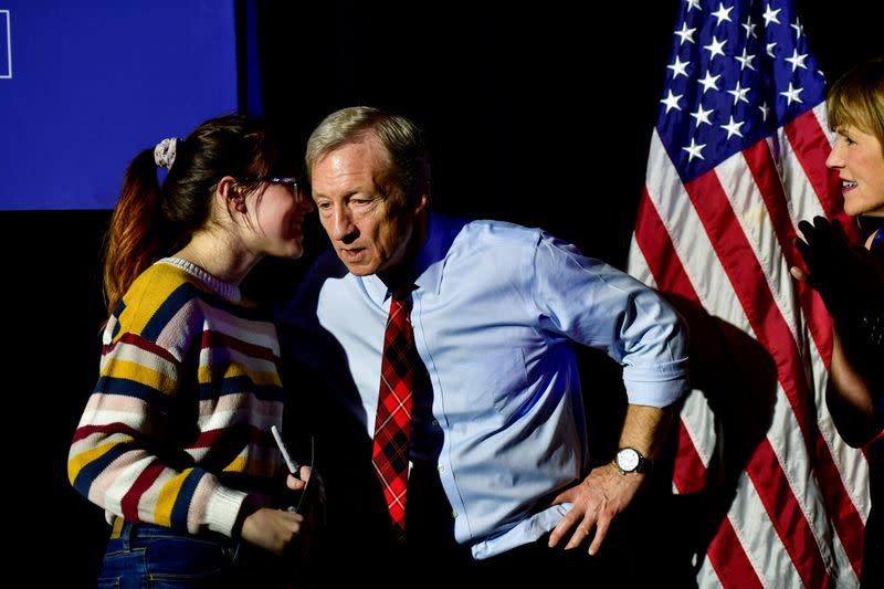 FILE PHOTO: Democratic presidential candidate Tom Steyer holds a GOTV rally in Columbia