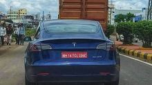 Upcoming Tesla Model 3 Electric Sedan Spied on Indian Roads Ahead of Official Launch