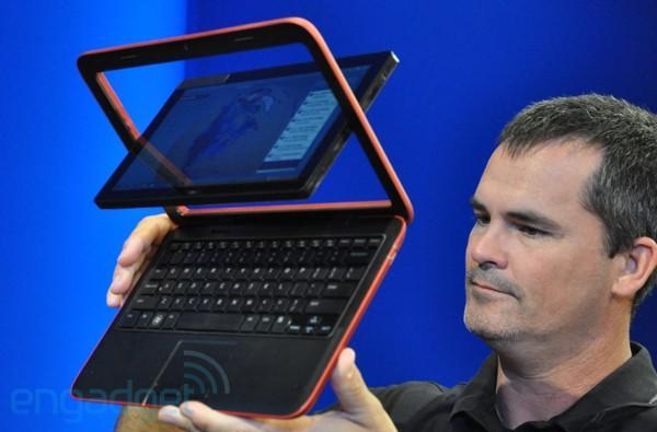 Dell's Atom-powered Inspiron Duo: 10-inch netbook / tablet hybrid with a crazy swivel (update: more video and detailed press photo!)