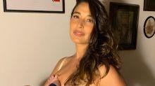 """Giselle Itié reclama de assédio em fotos de amamentação: """"Nojento"""""""