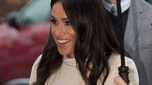 Pregnant Meghan Markle laughs off 'fat lady' comment