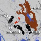 MAP: Glass Fire burning in area untouched by wildfires