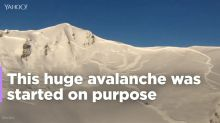 Avalanche triggered to spectacular effect