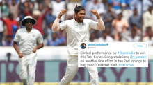 Umesh Yadav Gets the Hero Treatment After His Maiden 10-Wicket Haul Against West Indies