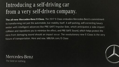 "Mercedes Is STILL Running ""Self-Driving Car"" Ads For The NOT Self-Driving E-Class"