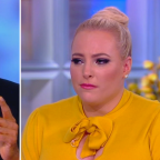 Meghan McCain and Khizr Kahn tearfully bond over Trump's attacks on their families