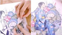 This Japanese artist creates intricate artworks using only rubber stamps