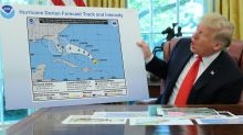 Trump displays hurricane map doctored to support his tweet that Dorian threatened Alabama — when it did not