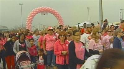 Survivors, Supporters Make Strides Against Breast Cancer