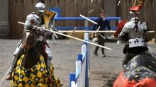 Australia win the inaugural 'Ashes' of jousting against England