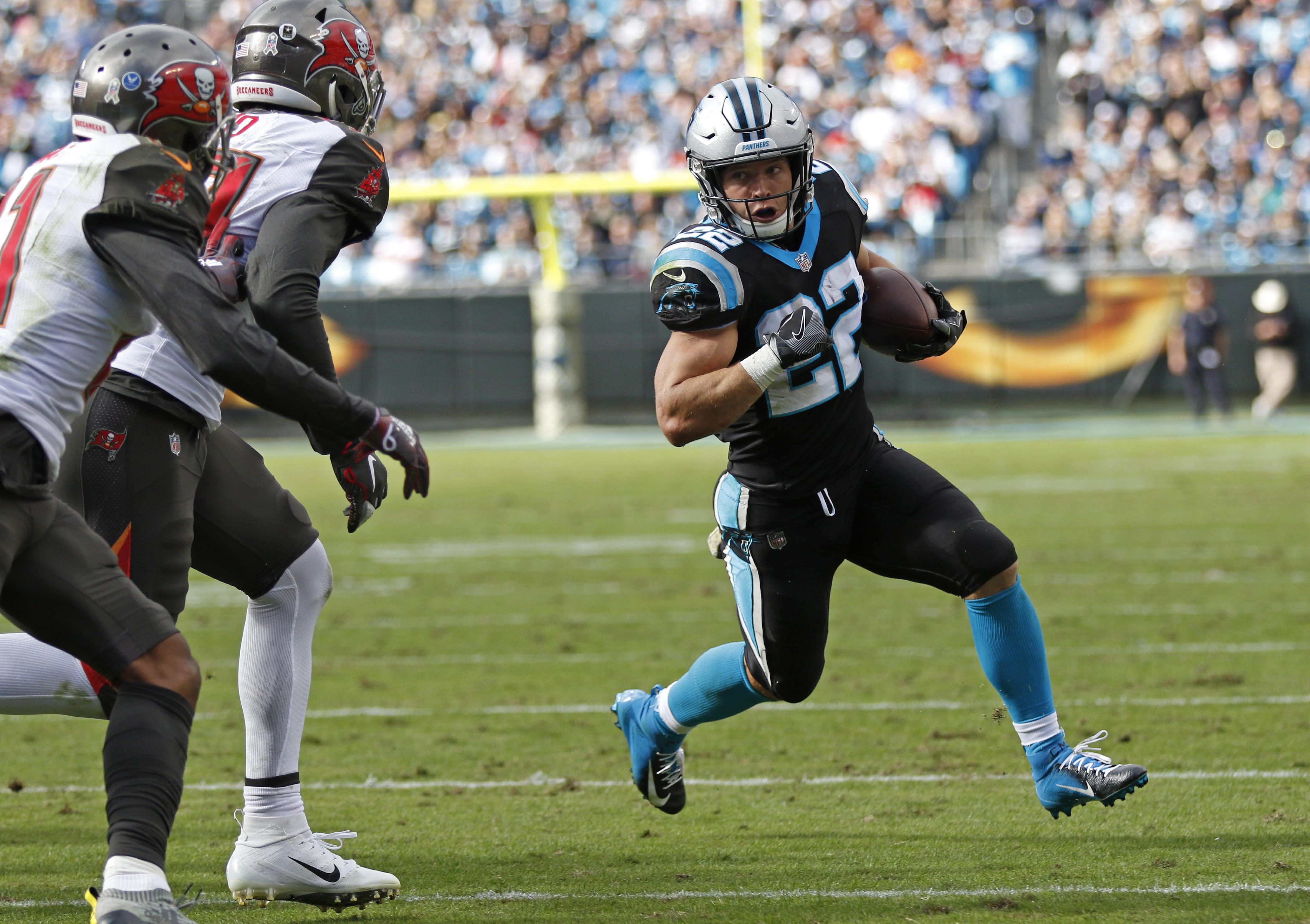 Newton, McCaffrey lead Panthers past Bucs 42-28 - News