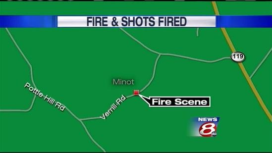Police: Man sets fire, shoots at officers