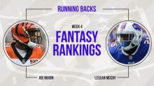 Week 4 Fantasy Football Rankings: Running back
