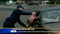 Firefighter boot drive for Sandy relief