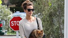 Kate Beckinsale flees wildfires with all her pets