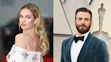 Chris Evans y Lily James, ¿son pareja?